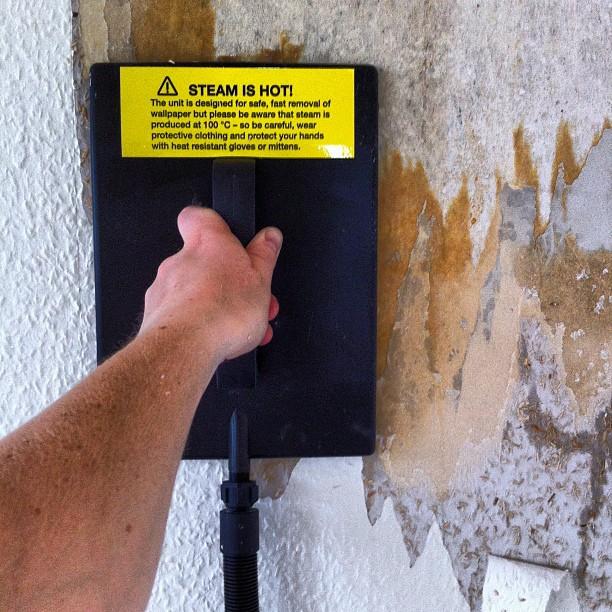 Renovering med ånga - som är varm(!).