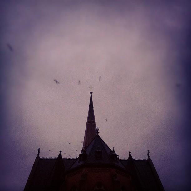 Kråkkyrka i morgondunkel