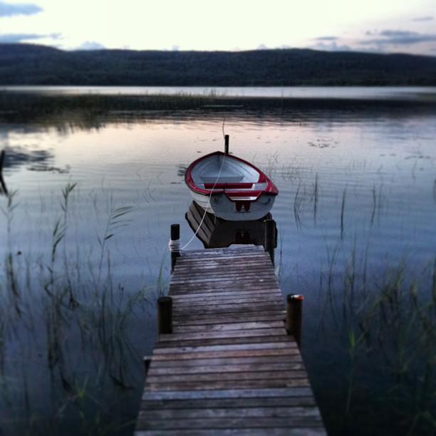 Vardagssemester vid Västersjön. En bit av vildmarken.
